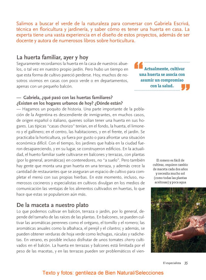"""Nota """"El Especialista"""" - Plataforma de formación ecológica"""